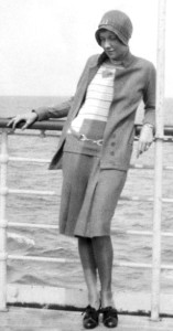 Flapper On Ship 1929