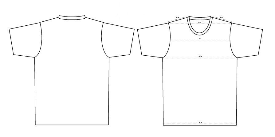 Blank T Shirt Templates MustHaves Blankstylecom BlogBlankstyle - T shirt print out template