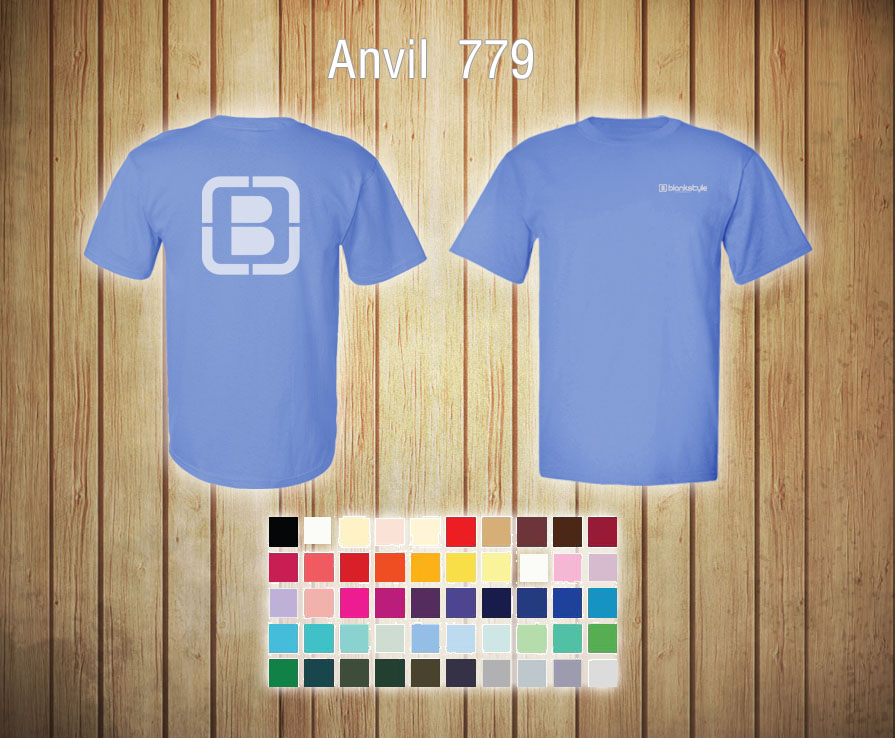 Blank T Shirt Templates Anvil 779