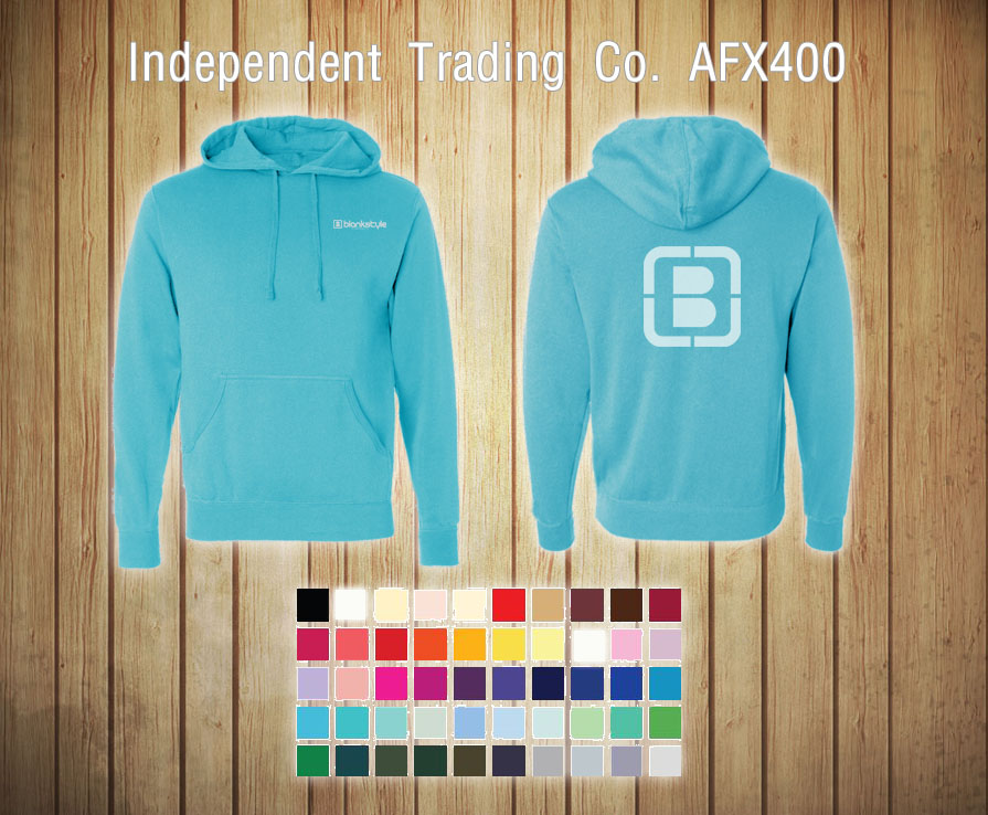 Blank Hoodie Templates Independent Trading Co AFX400