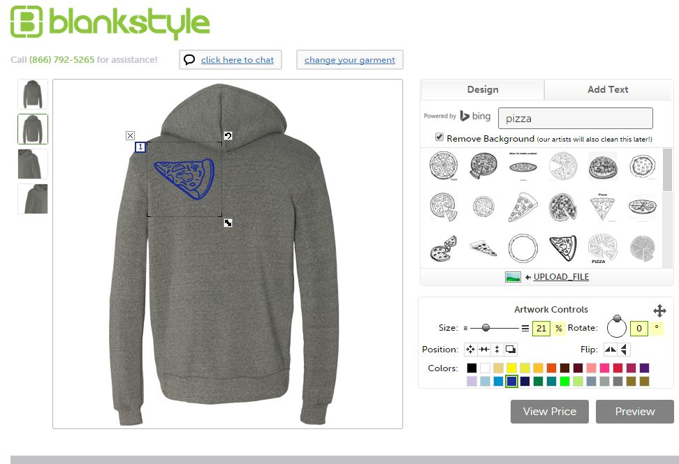 Blank Hoodie Templates Bella Canvas 3939 Design Tool