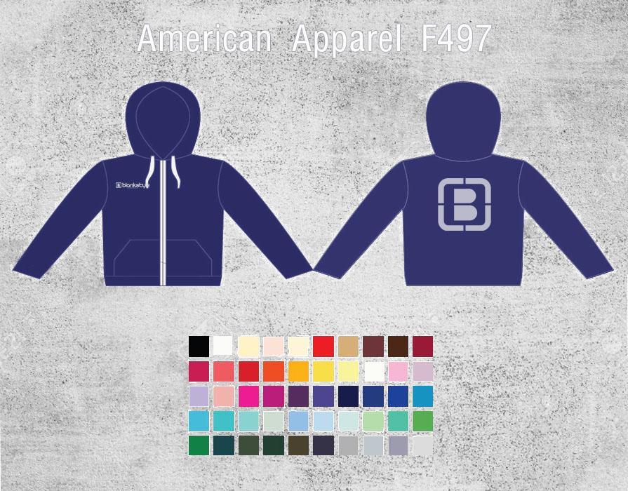 Blank Hoodie Templates American Apparel F497