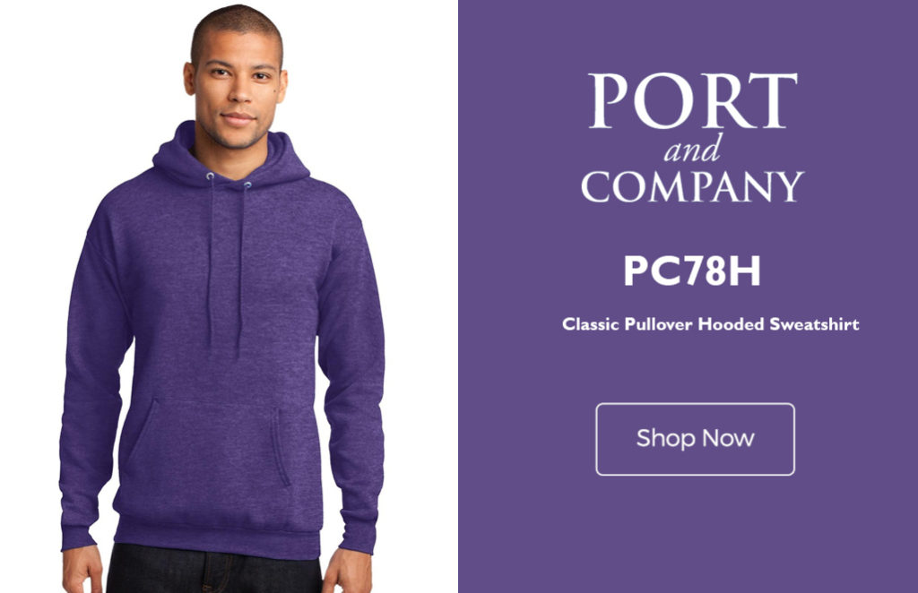 609795e897 The Port Company Classic Pullover Hooded Sweatshirt PC78H encompasses  everything you need in a lightweight blank sweatshirt Made from 50% cotton  and 50% ...
