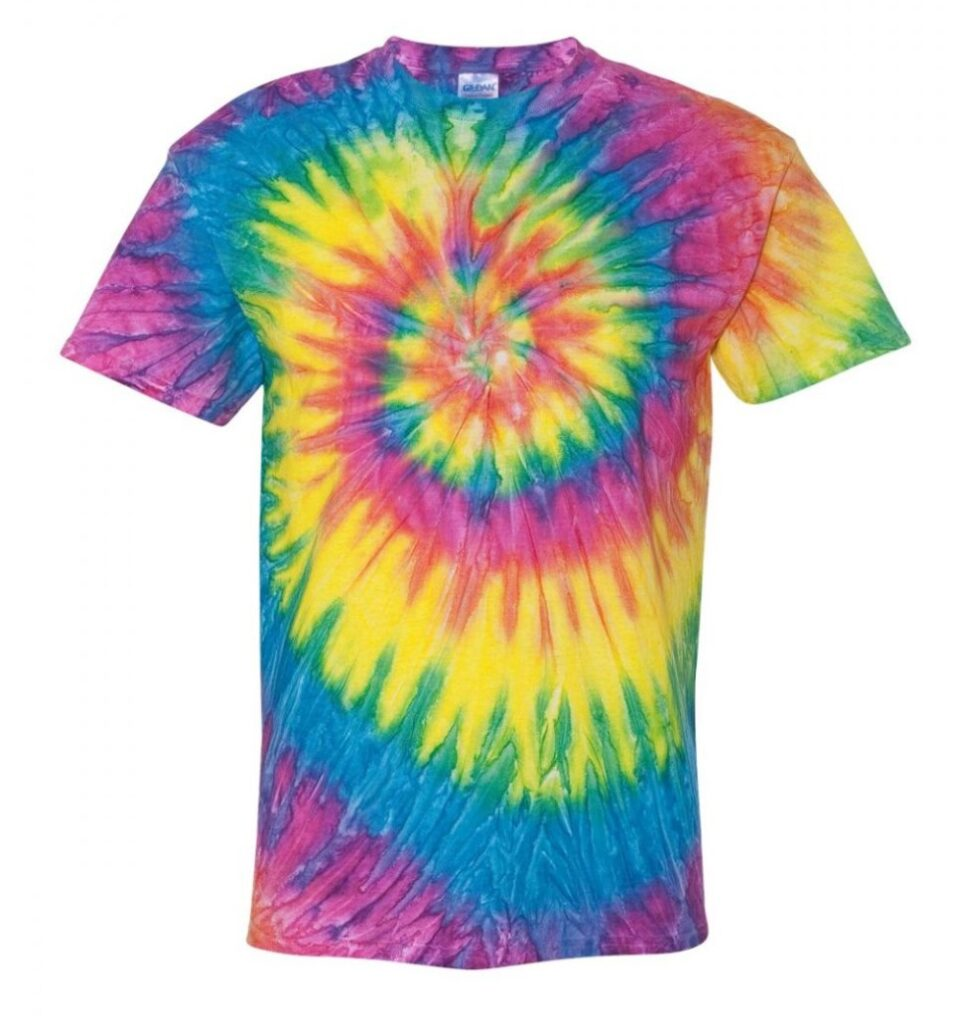 Rainbow Tie-Dye T-Shirt links to product page to purchase