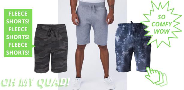 wholesale fleece shorts from Blankstyle.com