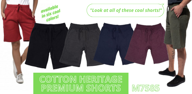 Cotton Heritage Premium Short - m7585 - Fleece Jogger Shorts