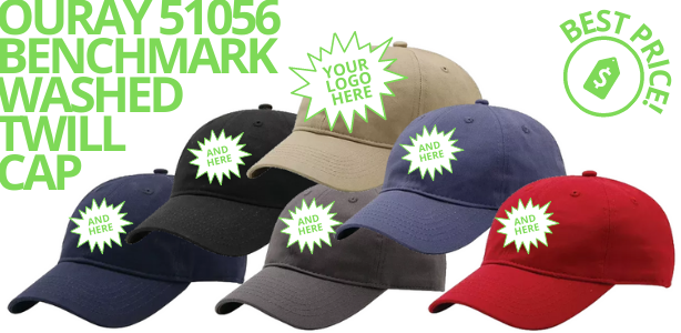 Ouray 51056 Benchmark Washed Twill Caps