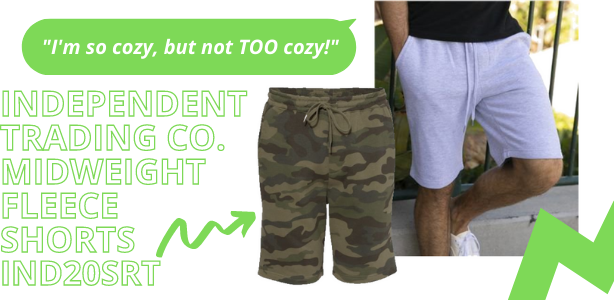 Independent Trading Co Midweight Fleece Shorts - IND20SRT