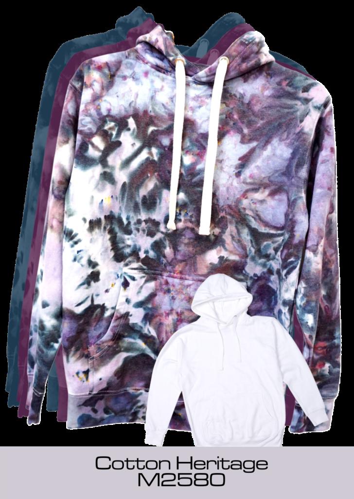 Ice dye tie-dyed premium hoodie by Yuiitsu Dye Shop - Cotton Heritage Premium Pullover Hoodie M2580 ready for tie dye
