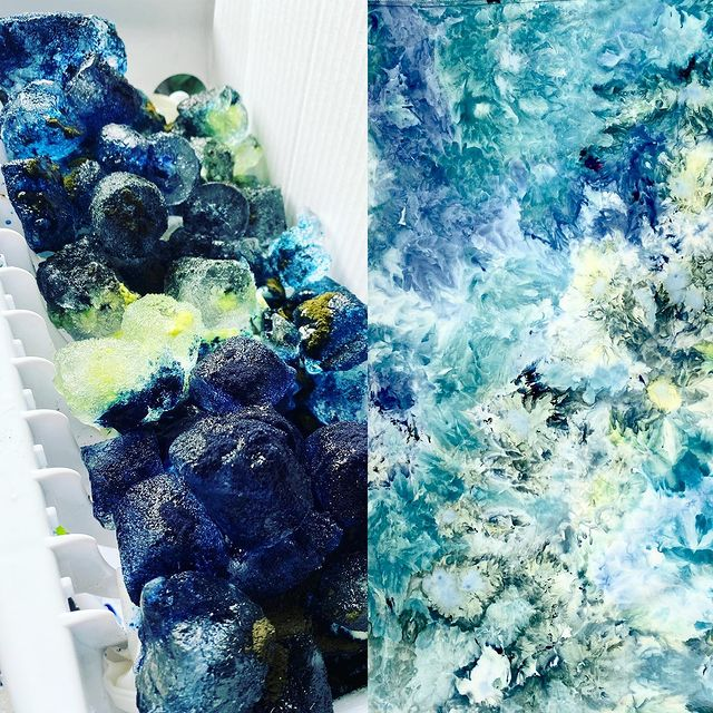 Ice Dye process and result by Yuiitsu Dye Shop