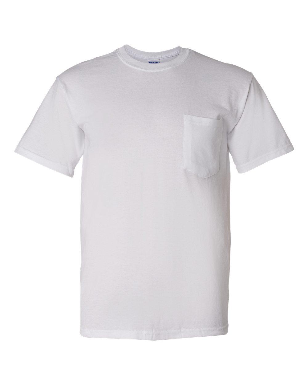 8300 gildan 5 6 oz ultra blend 50 50 pocket t shirt for Bulk pocket t shirts
