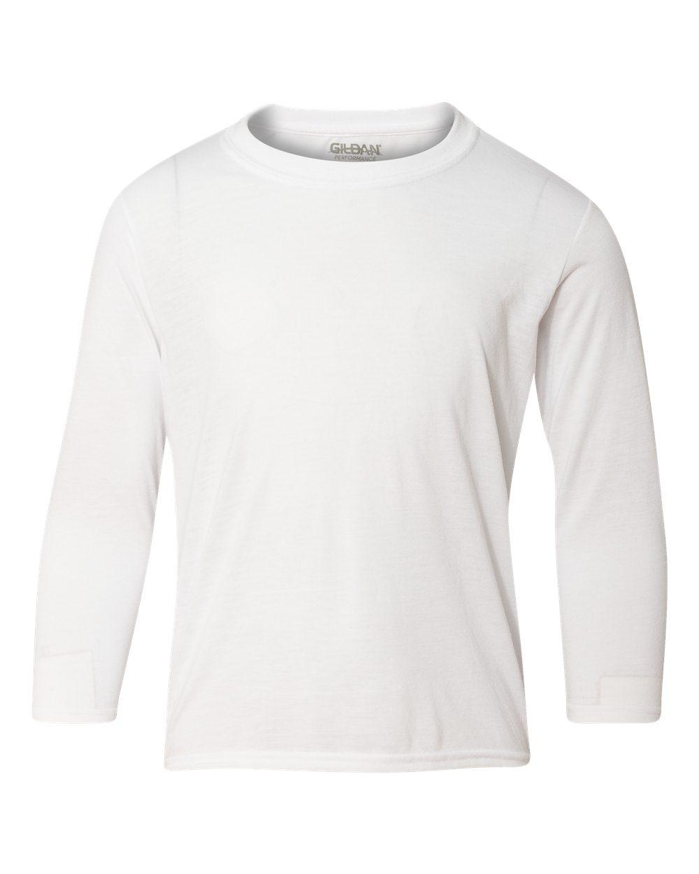 42400b Gildan Youth Core Performance Long Sleeve T Shirt