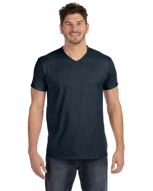 Black t shirt bulk - 498v Hanes 4 5 Oz 100 Ringspun Cotton Nano T V
