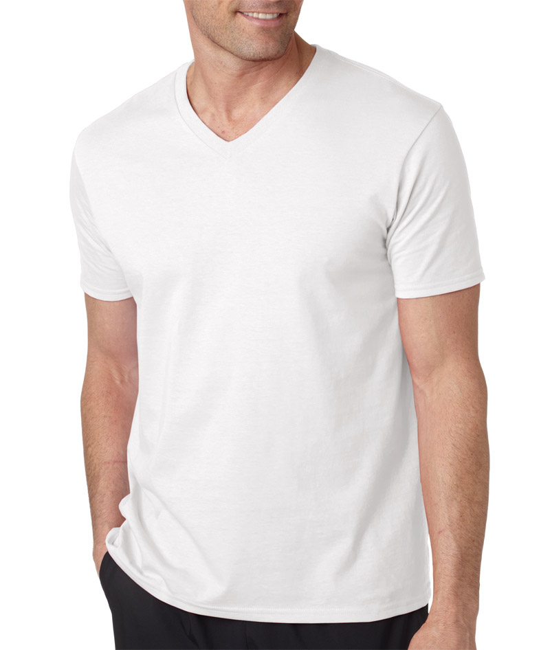 64v00 gildan adult softstyle v neck t shirt blank for Gildan v neck t shirts for men