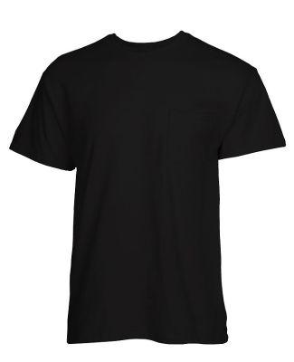 Tultex 0293TC - Unisex Heavyweight Pocket Tee Black