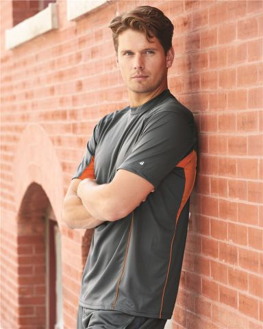 4147 Badger Adult Drive Performance Tee with Contrast Panels
