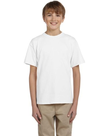 3931B Fruit of the Loom Youth 5.6 oz. Heavy Cotton T-Shirt White