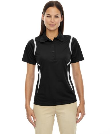 75109 Ash City - Extreme Eperformance™ Ladies' Venture Snag Protection Polo BLACK 703