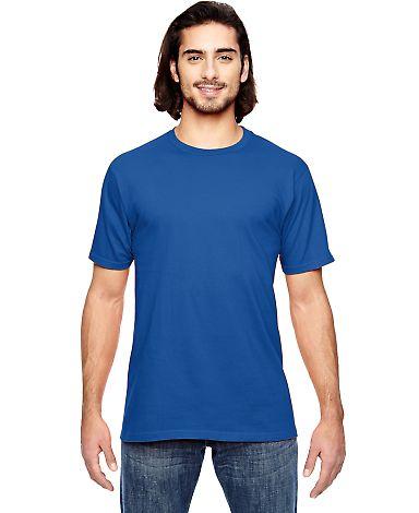 GOPINK-980 Anvil Combed Ring Spun Cotton T-Shirt Neon Blue