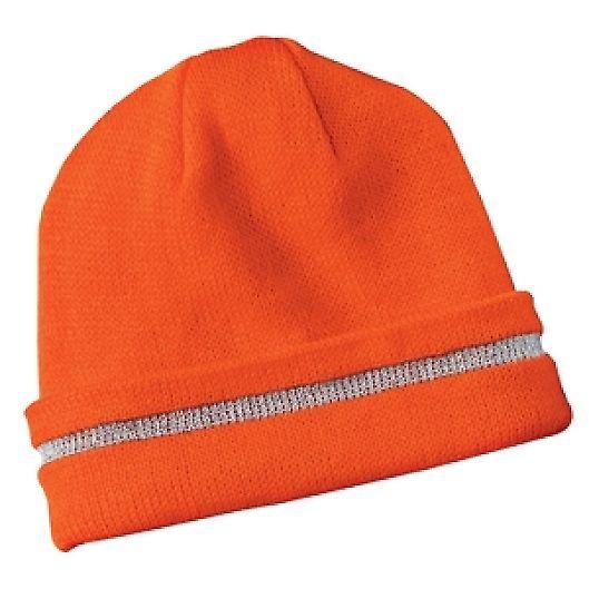 CS800 CornerStone® - Enhanced Visibility Beanie with Reflective Stripe Safety Orange/ Reflective