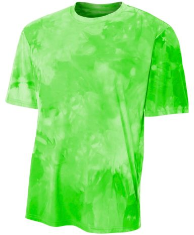 NB3295 A4 Drop Ship Youth Cloud Dye T-Shirt LIME
