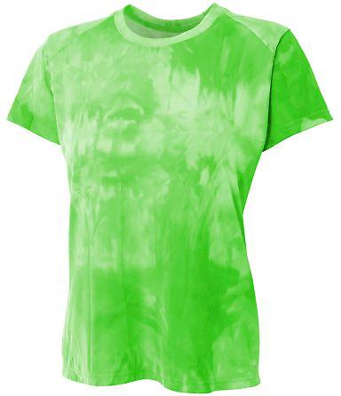 NW3295 A4 Drop Ship Ladies' Cloud Dye Tech T-Shirt LIME