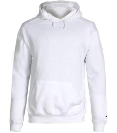 1254 Badger - Hooded Sweatshirt White
