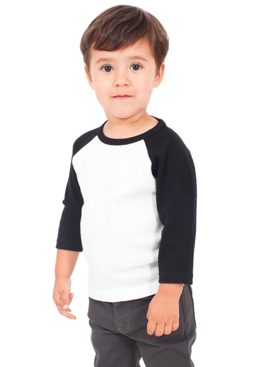 Black t shirt for toddler -  White Black