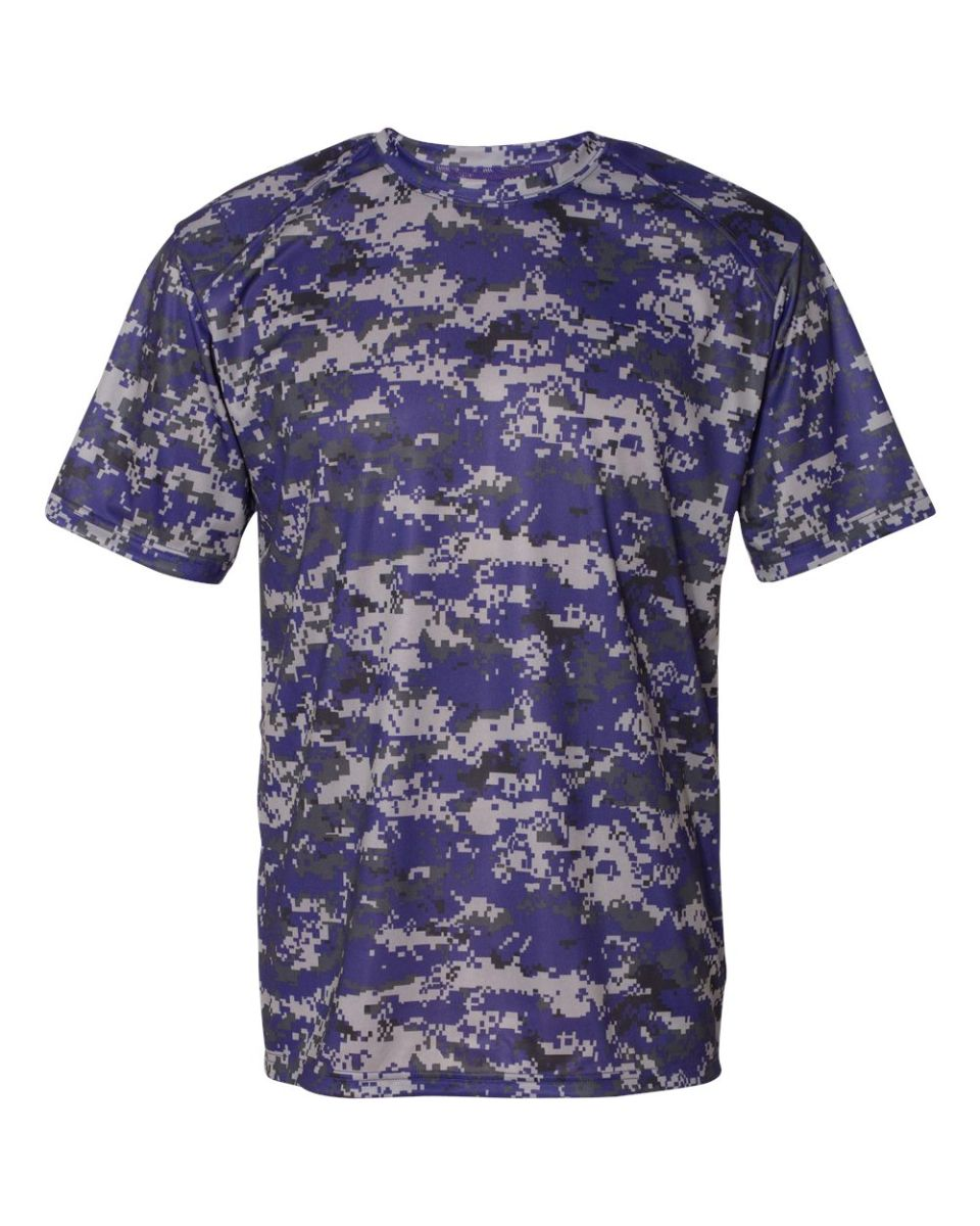 Badger sportswear 4180 for Camouflage t shirt design