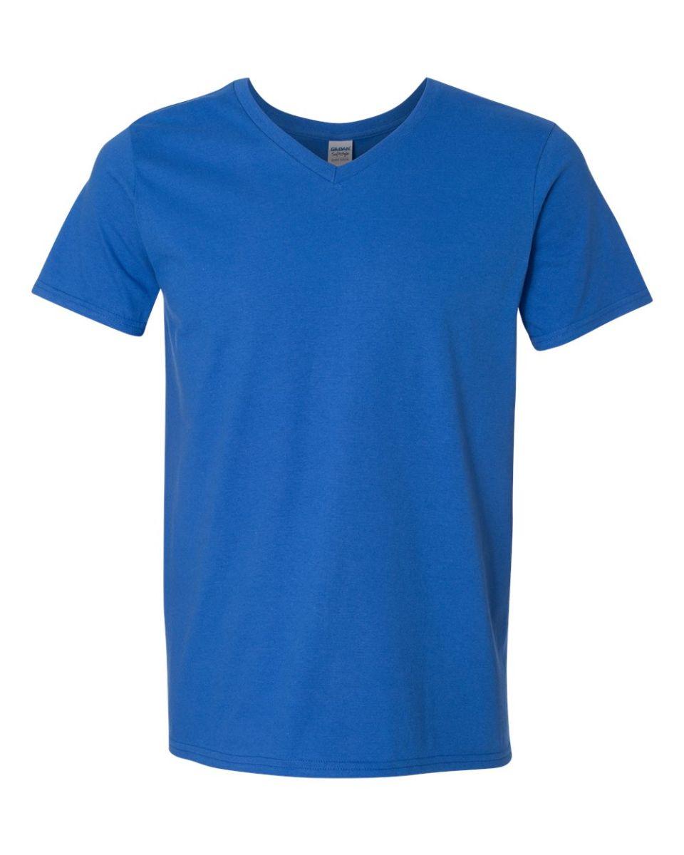 Mens Grey V Neck T Shirt
