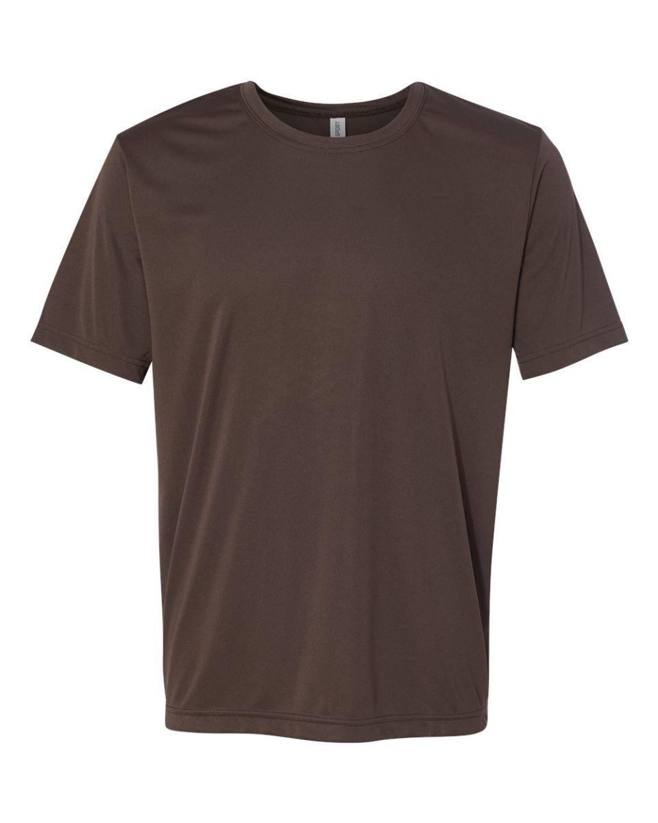 Black t shirt sports -  All Sport M1009 Polyester Sport T Shirt Sport Dark Brown