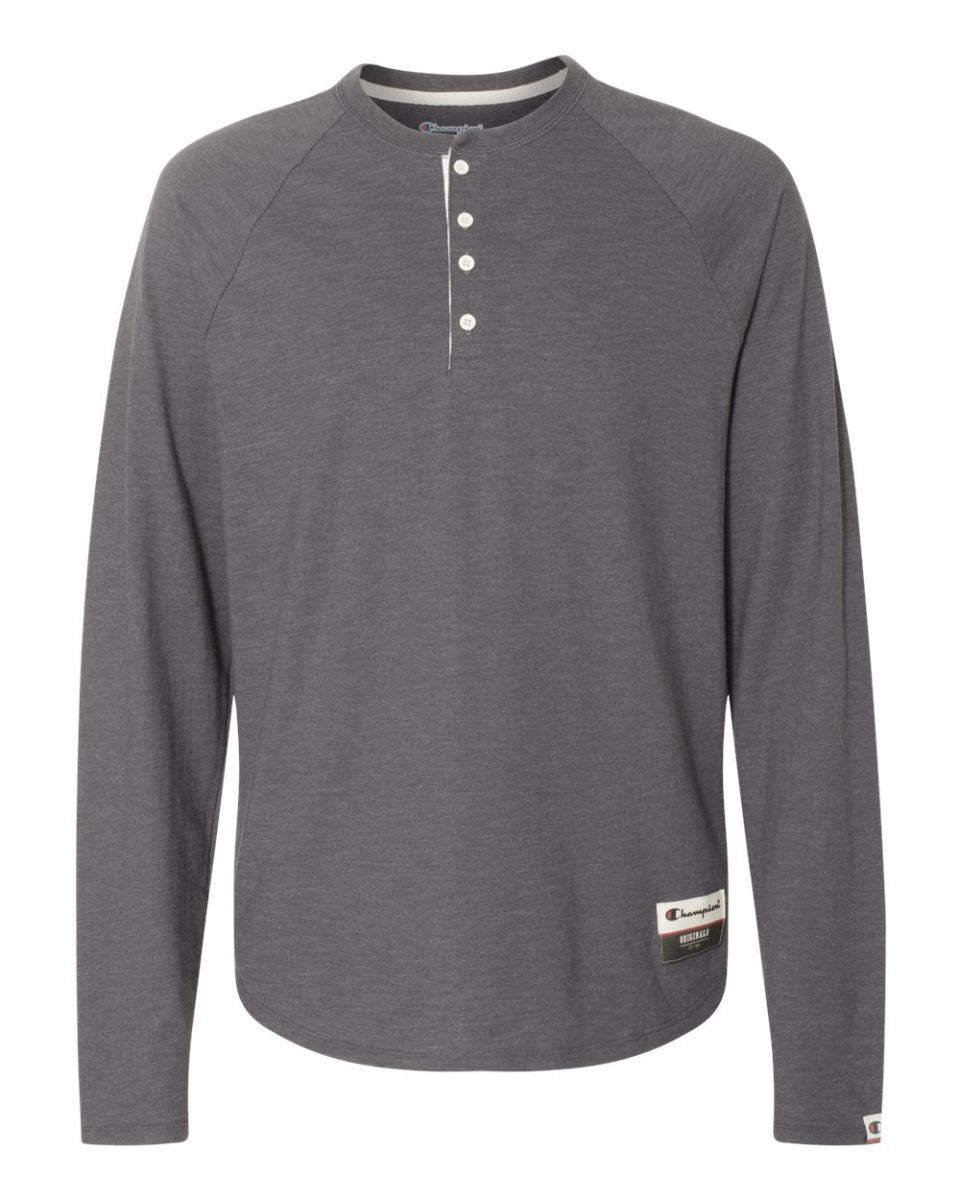 Natural Colored Henley Mens
