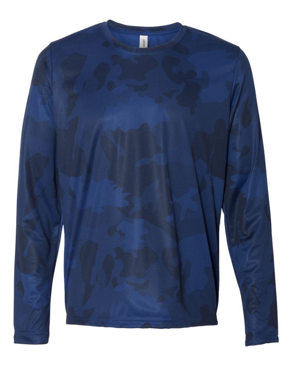 Black t shirt sports -  M3009 All Sport Men S Performance Long Sleeve T Shirt Sport Dark Navy Laser