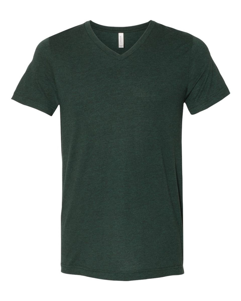 Black V Neck T Shirts Mens