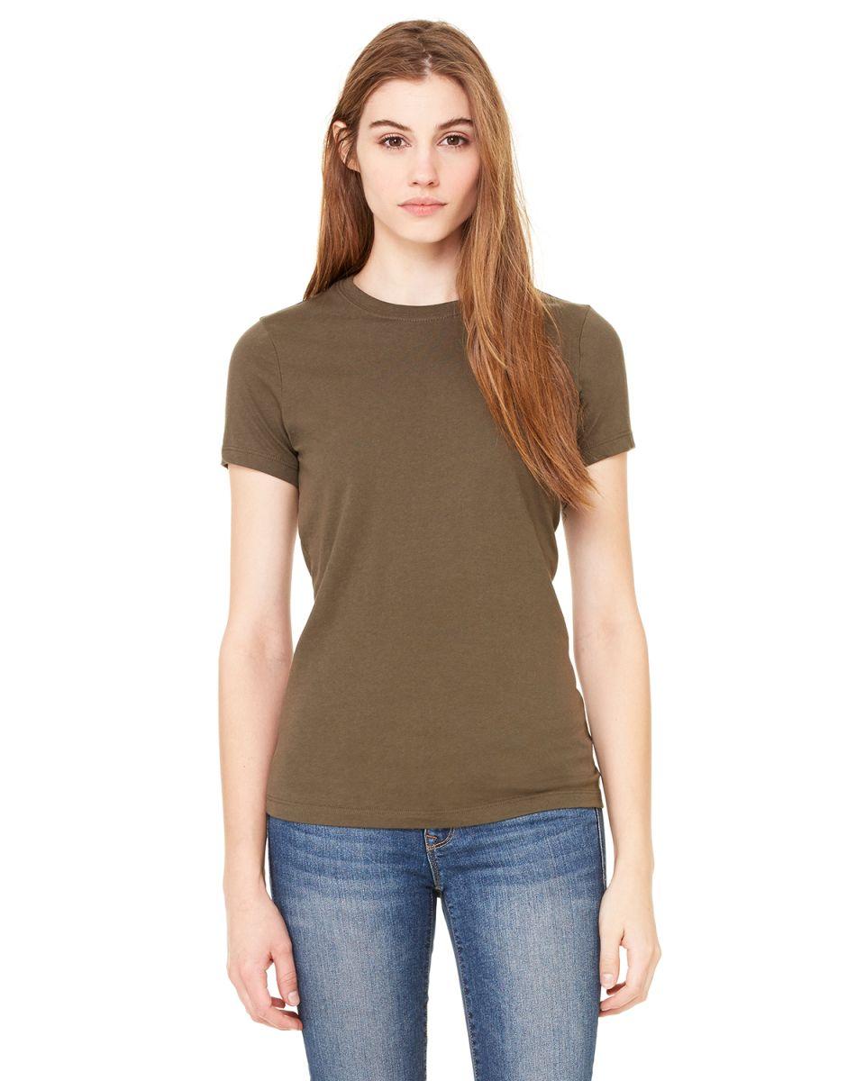 Bella 6000 for Crew neck t shirt women