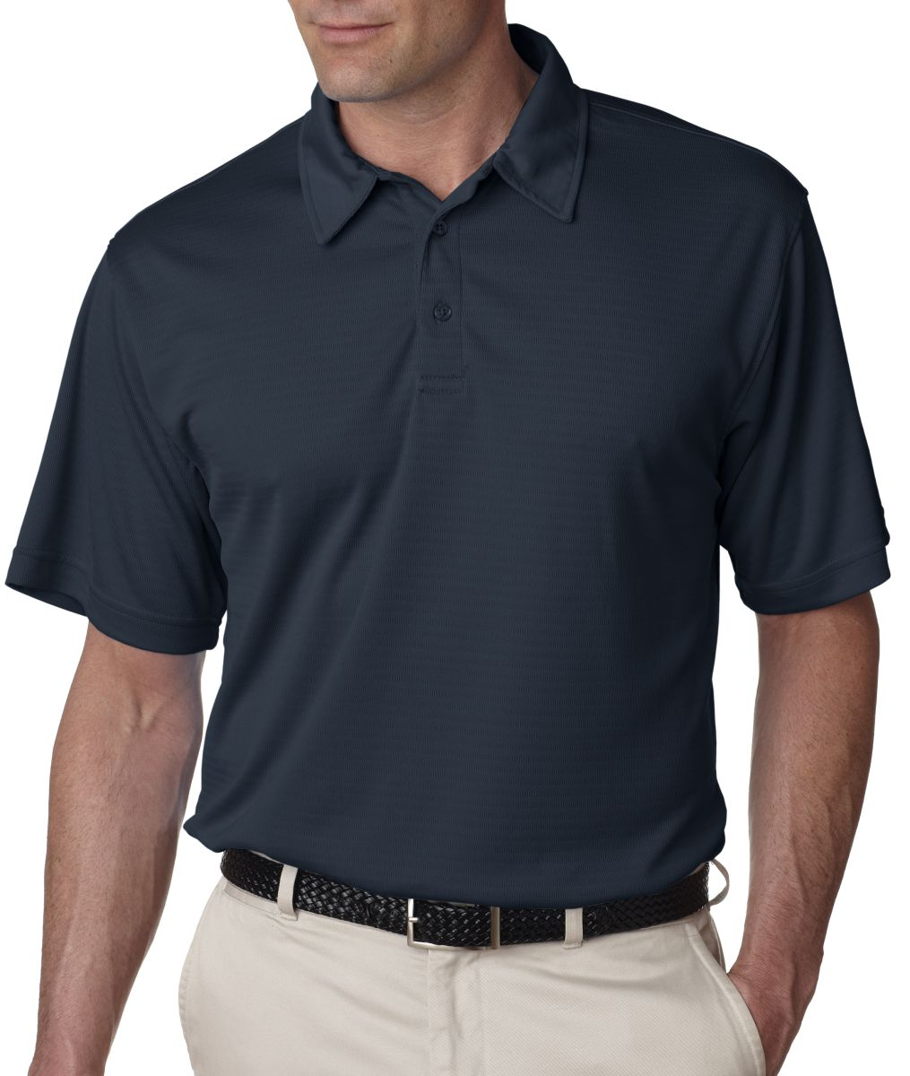 8412 UltraClub® Adult Cool & Dry Elite Jacquard Performance Polo. Style ...