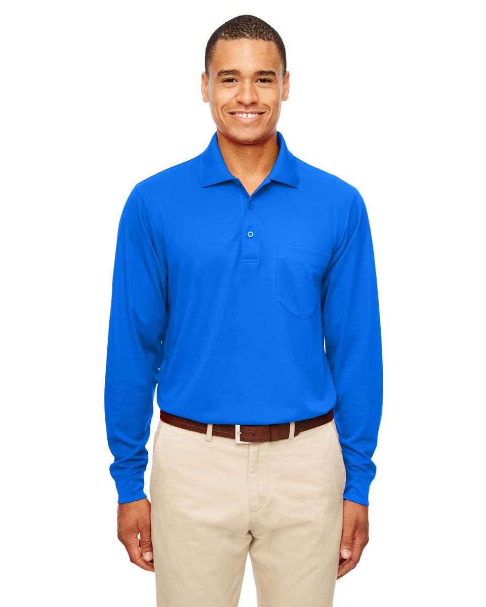 Ash City - Core 365 88192P Adult Pinnacle Performance Piqué Long-Sleeve Polo  with Pocket. Click the image to expand