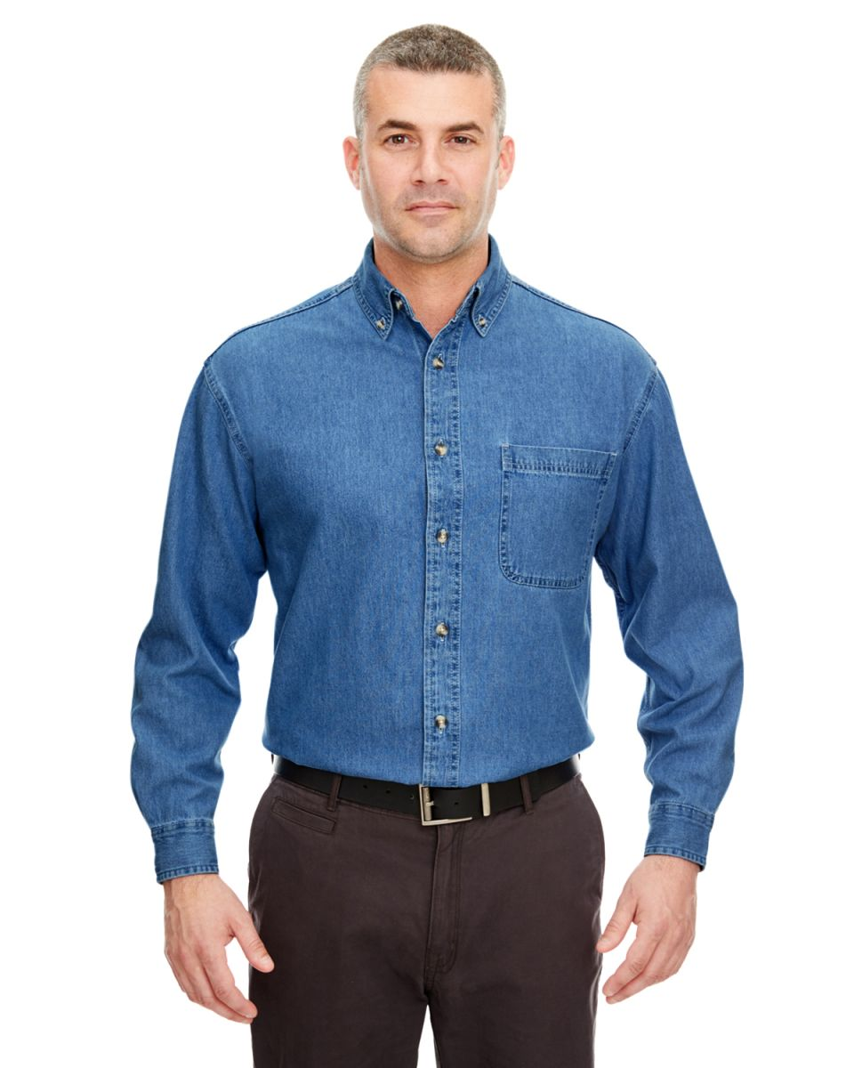 Ultraclub 8960 for Jean button up shirt mens