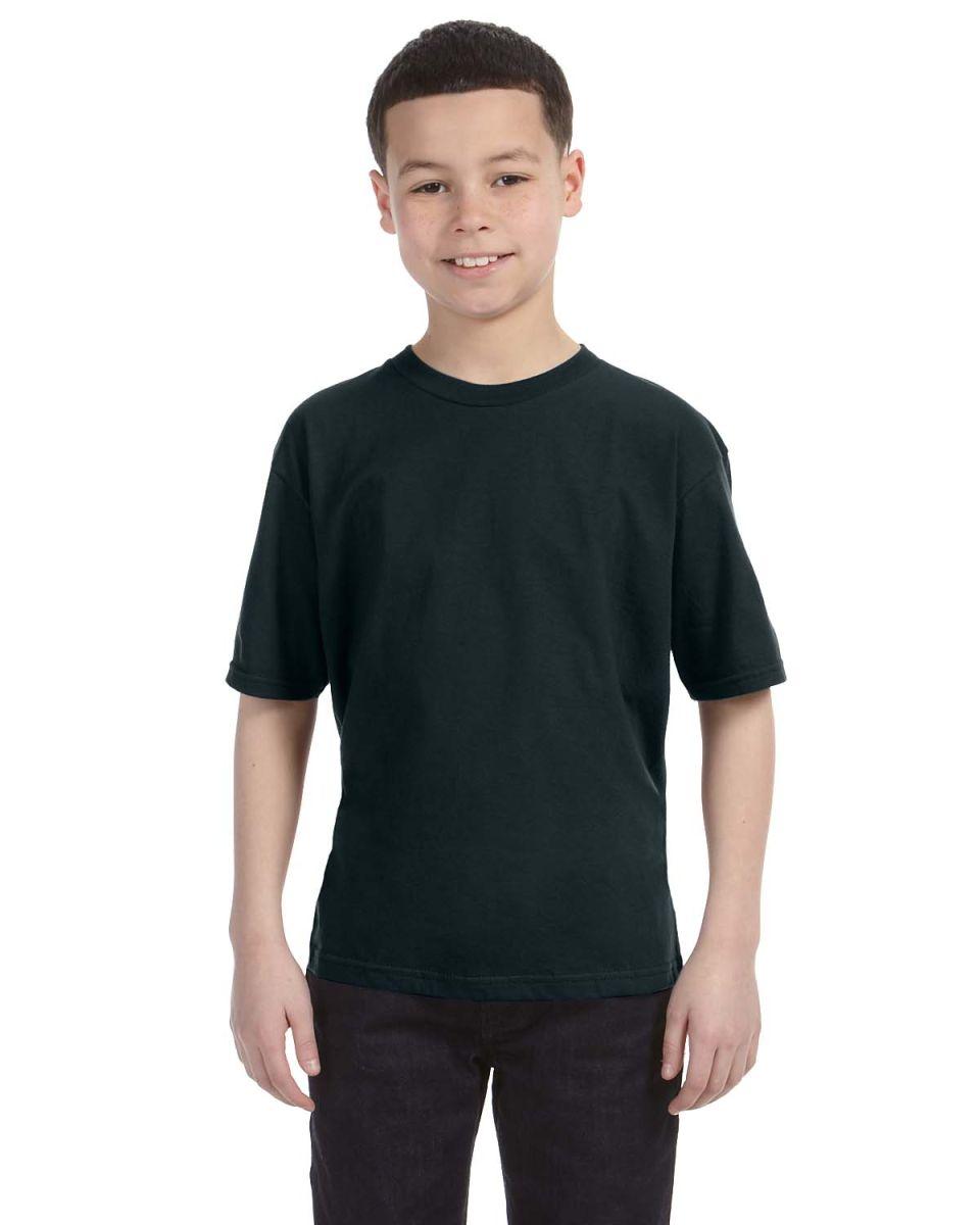 Youth black t shirt -  990b Anvil Combed Ring Spun Cotton Fashion Youth T Shirt Black