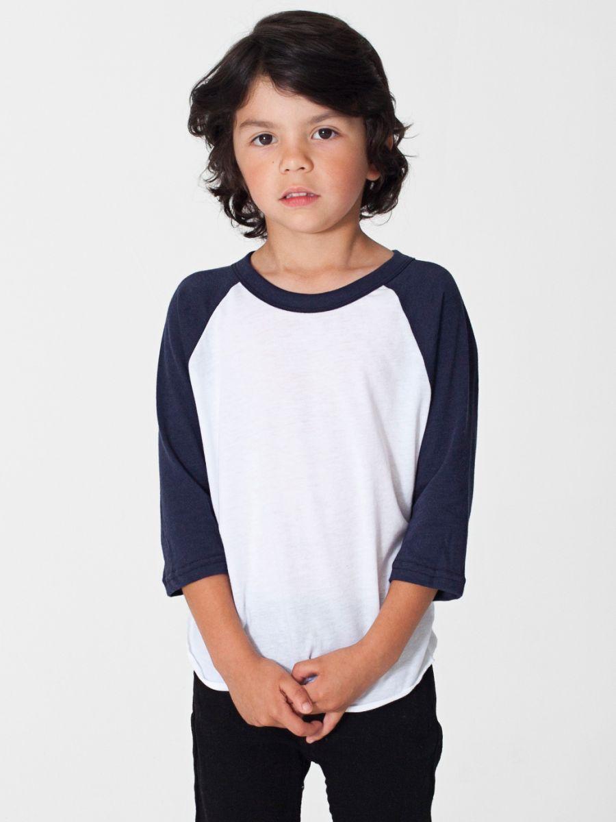 American apparel bb153 Boy white t shirt