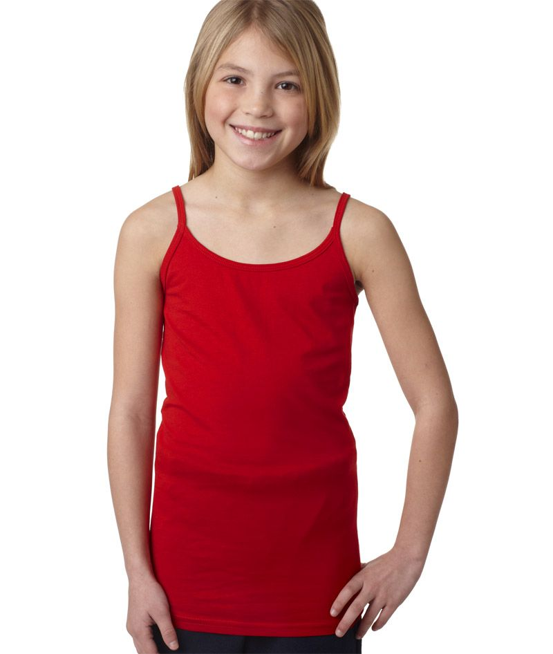 2623 La T Girls Spaghetti Strap Tank Blank Wholesale