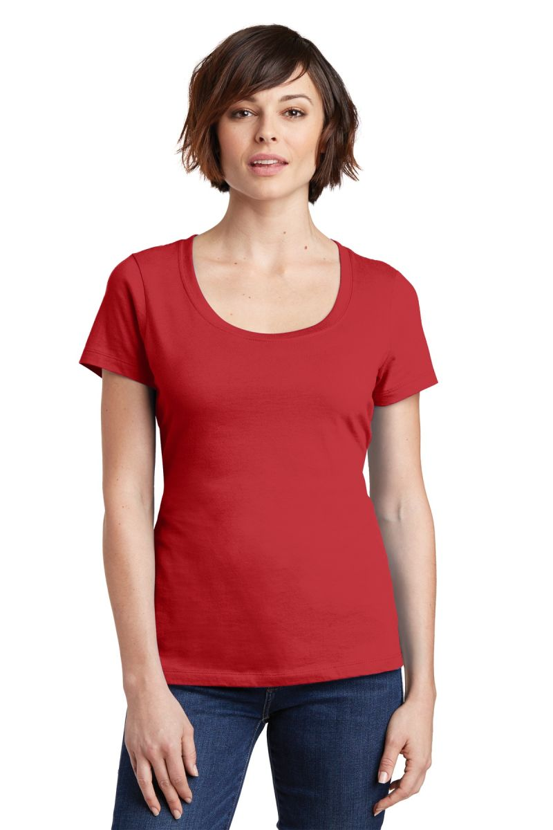 DM106L District Made® Ladies Perfect Weight® Scoop Tee ...