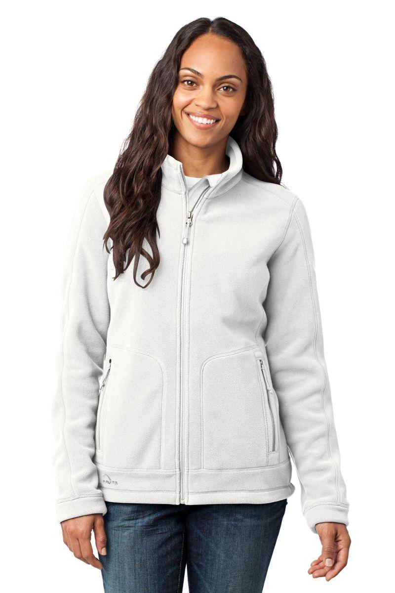 fleece bauer eddie jacket zip wind resistant ladies womens clothing blankstyle offwhite polyester outerwear apparel sanmar