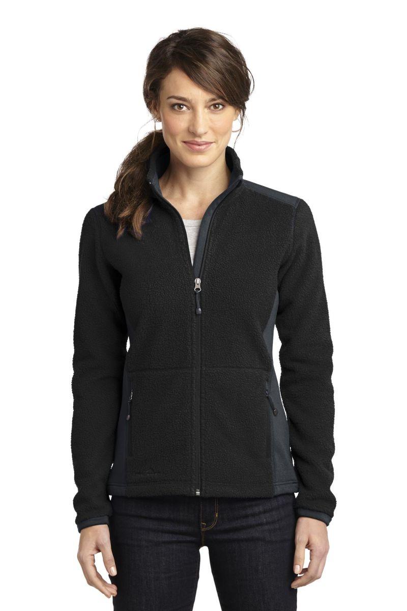 eddie bauer zip fleece ladies jacket sherpa blankstyle looking front four