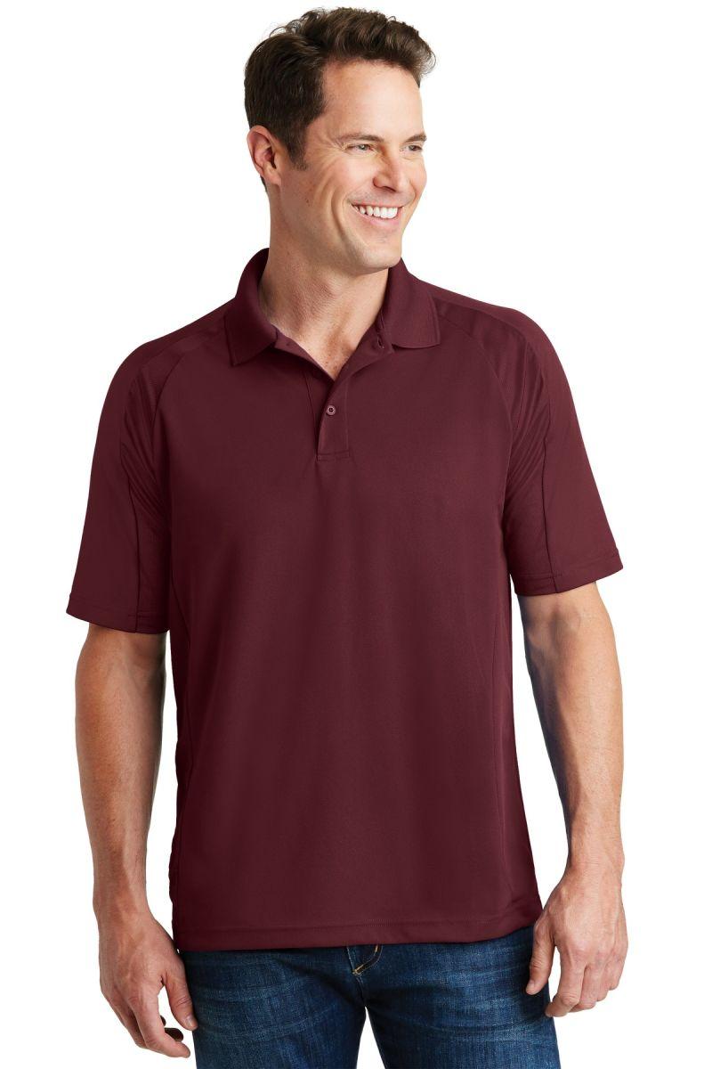 Sport tek t474 for Maroon dri fit polo shirt