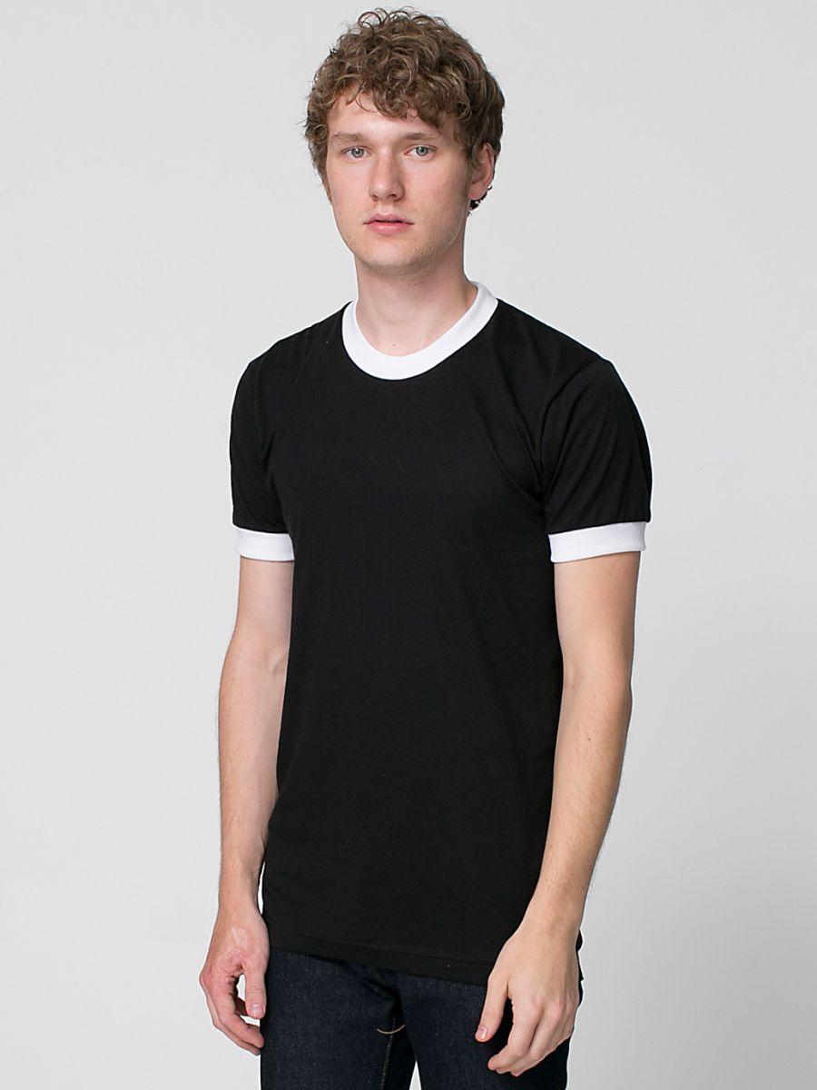 Black t shirt unisex - White Red Black White