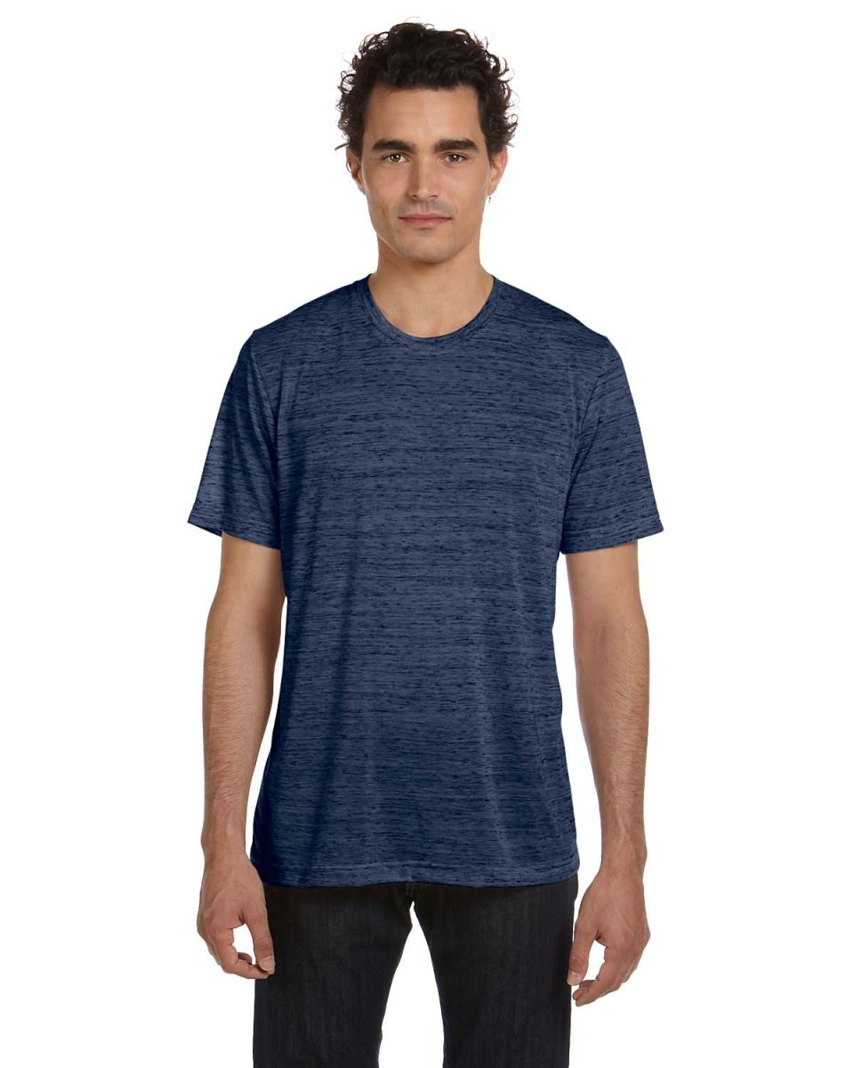 Marble navy for Poly blend t shirts wholesale