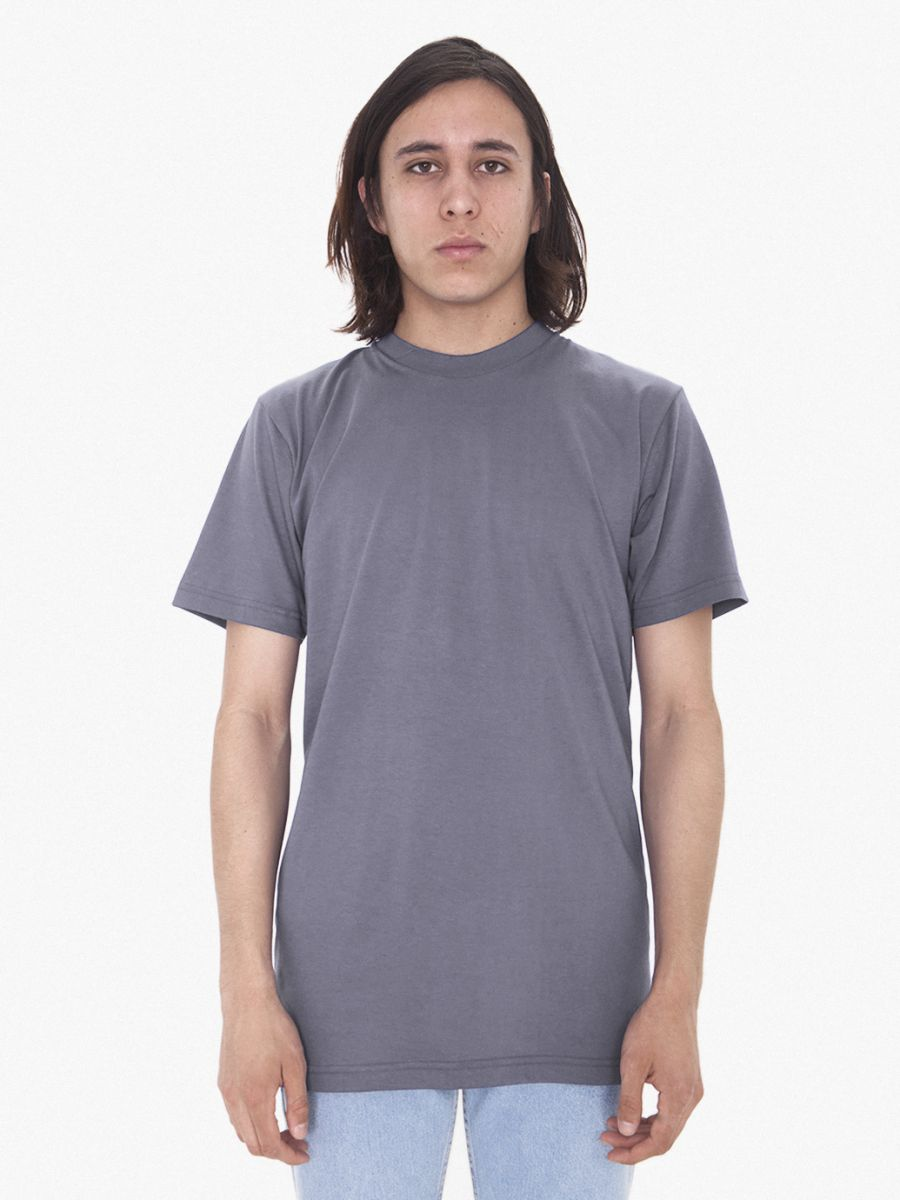American apparel 2001tl for American apparel men s fine jersey short sleeve tall t shirt