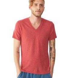 Alternative Apparel 1933 Eco Jersey Stripe V-Neck T-Shirt