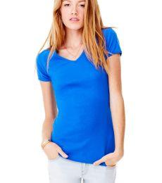 BELLA 1005 Womens Baby Rib V-Neck T-shirt